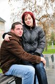 romantische young Couple in love