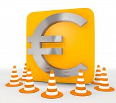 3d render of a decorative Euro icon