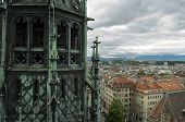 View Of Geneva, Switzerland From Cathedral Saint Pierre