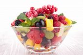 picture of fruit bowl  - bowl of fruit salad - JPG