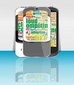 Mobile Zelle Smartphone Set Telecom Anbieter Flyer