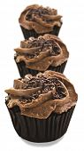 Lovely chocolate cupcakes - very shallow depth of field