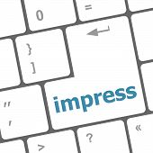 Impress Word On Computer Pc Keyboard Key
