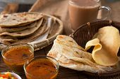 image of malaysian food  - Roti canai - JPG