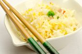 Fried rice with egg, traditional chinese food