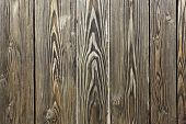 Texture of old wooden fence close-up