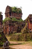 image of champa  - My son a complex of the Champa architecture in Vietnam - JPG