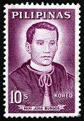 Postage Stamp Philippines 1963 Father Jose Burgos, Portrait