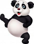 Panda cartoon doen martial art