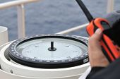 Modern Ship's Compass And Vhf