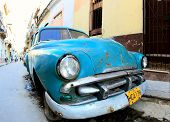 Classic Old Car Is Blue Color
