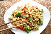 Chop Sticks on Chicken Lo Mein