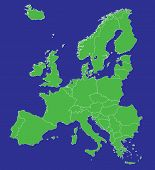 Europe Eu Map With Country Borders