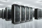 stock photo of mainframe  - Modern network and communication concept - JPG