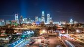 image of cosmopolitan  - Charlotte City Skyline and architecture at night - JPG