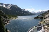 picture of beartooth  - Mystic Lake Dam is a two - JPG