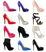 pic of platform shoes  - illustration set of women - JPG