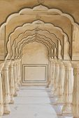 Arches At Amber Fort Near Jaipur