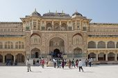Ganesh Gate At Amber Fort Near Jaipur