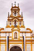 Basilica De La Macarena Bell Tower Bronze Bells Catholic Church Seville Spain