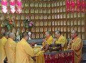 Shanghai - Nov. 18.2013: Buddhist Monks