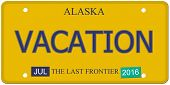 Vacation Alaska License Plate