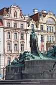 Jan Hus. The Monument Was Erected In 1915