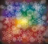 Vector Illustration Of A Winter Background With Snowflakes