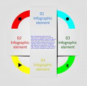 Infographic design elements (bookmarks). EPS 10 vector illustration