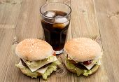Two Burger With Softdrink