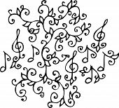pic of treble clef  - Refined vignette - JPG