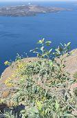 View Of Thira At Santorini.