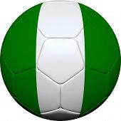 Nigerian Flag With Soccer Ball