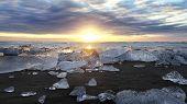 Jokulsarlon Iceberg Beach Iceland
