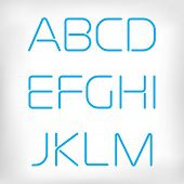 Modern minimal rounded font alphabet;  Sans-serif display elegant light font, vector alphabet letters design. Extra light, light, regular and bold versions included. Regular, normal version