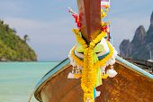 Long tailed boat Ruea Hang Yao in Ko Phi Phi island Thailand