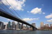 Ponte do Brooklyn - Nova York Skyline