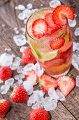 Strawberry Caipirinha With Crushed Ice