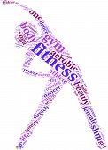 Fitness tag cloud