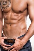 stock photo of six pack  - Close - JPG