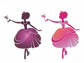 Silhouette of a beautiful princesses