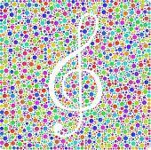 Symbol of music into a square icon