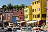 Town Of Veli Losinj Colorful Waterfront