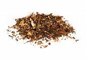 stock photo of darjeeling  - tea loose dried tea leaves isolated on the white backrgound - JPG