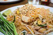 Pad Thai  stir fried rice noodles