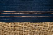 Striped Ebony Wood Texture With Hessian , Rural Style
