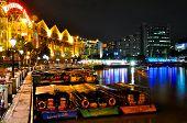 Singapore Clarke Quay by Night