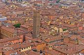 Cityscape view from two towers, Bologna, Italy