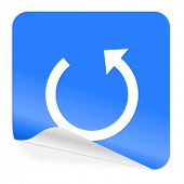 rotate blue sticker icon