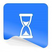 time blue sticker icon